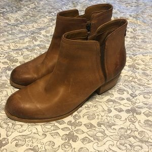 Leather Clark's Booties